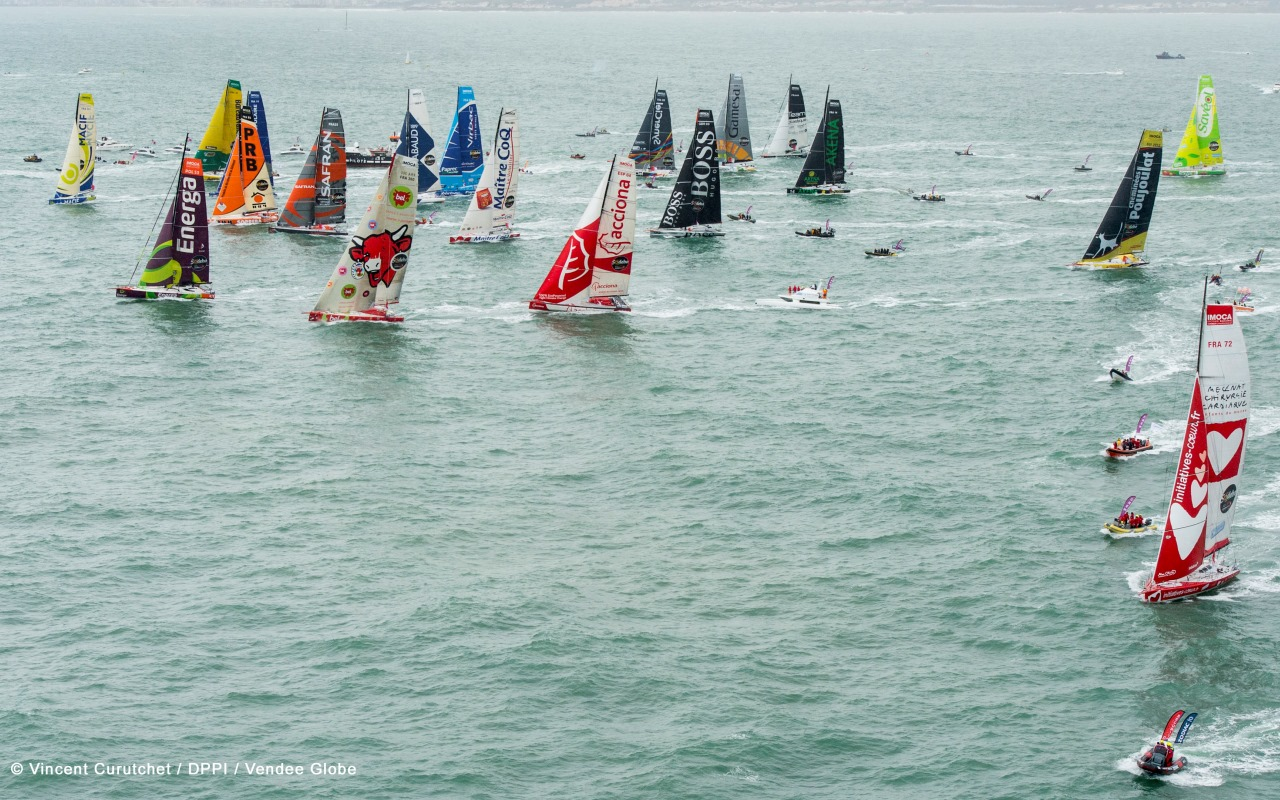 VENDEE GLOBE 2012 - START - PHOTO / VINCENT CURUTCHET / DARK FRAME / DPPI / VENDEE GLOBE