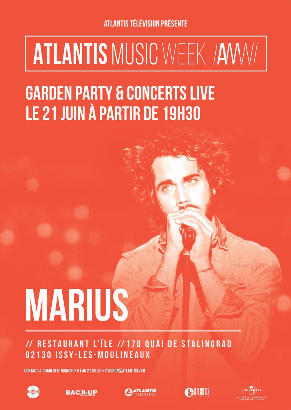 Marius, en concert à la Atlantis Music Week 2017