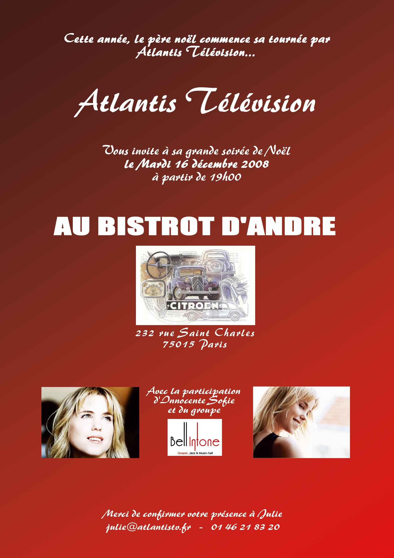 Atlantis Television - Première soirée de Noël au Bistrot d'André