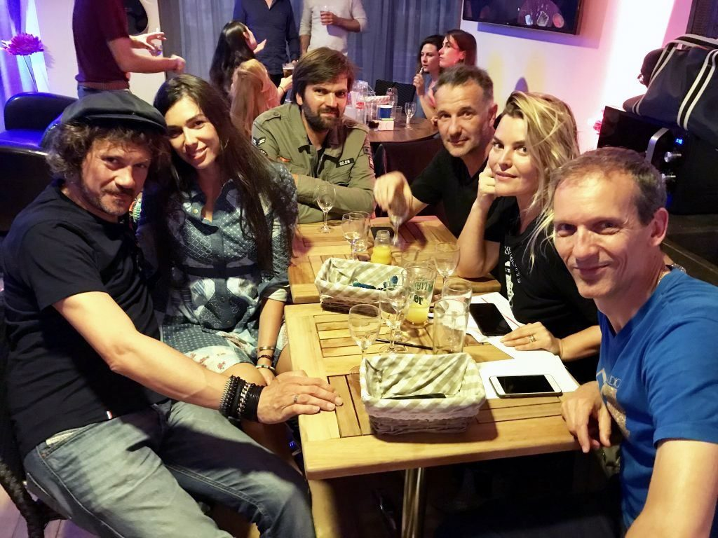 Justine Fraïoli, Pat Angeli et Stéphane Basset lors du Blind Test de l'Atlantis Music Week 2018